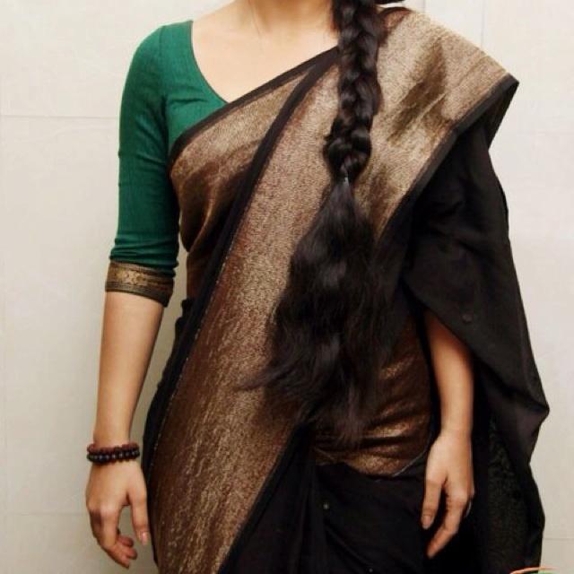 Green, Black and Copper Zari. #Sabayasachi.