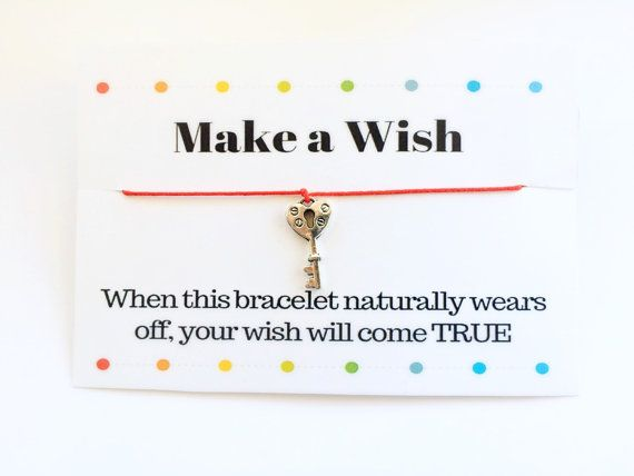 Key Bracelet Make a Wish Key Bracelet Red String Bracelet