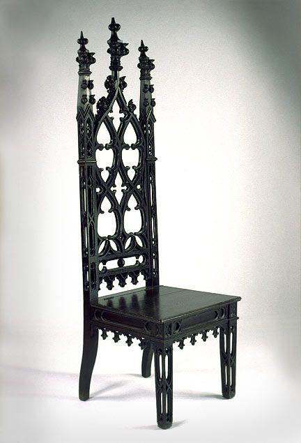 Gothic Revival Mahoganized Oak Hall Chair