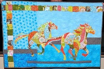 Retro Horses Quilt
