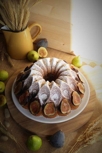La Chef A: Bundt cake de higos y nueces caramelizadas