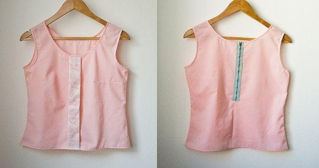 zip & lace top