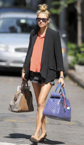 Jessica Hart Walks in the West Village