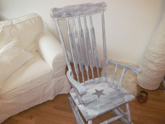 Stühle - **Landhaus*Vintage-Schaukelstuhl im **shabby-look* - ein Designerstück von La--Maison bei DaWanda