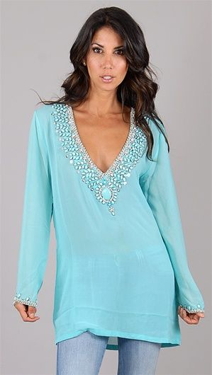 Would make such a cute swim cover up!