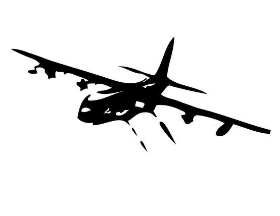 Vinyl Design of a AC-130(u) Created by Tower Decals for a AFSOC Fundraiser