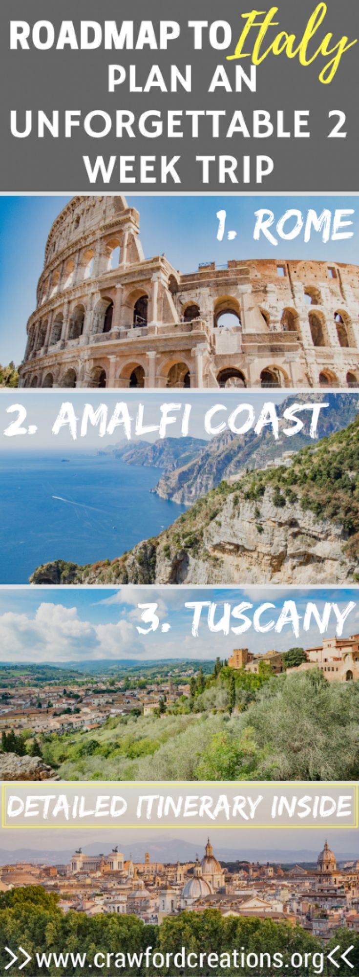 Roadmap Of The Us%0A Follow Us To ITALY  Our   Week Italy Itinerary in Photos