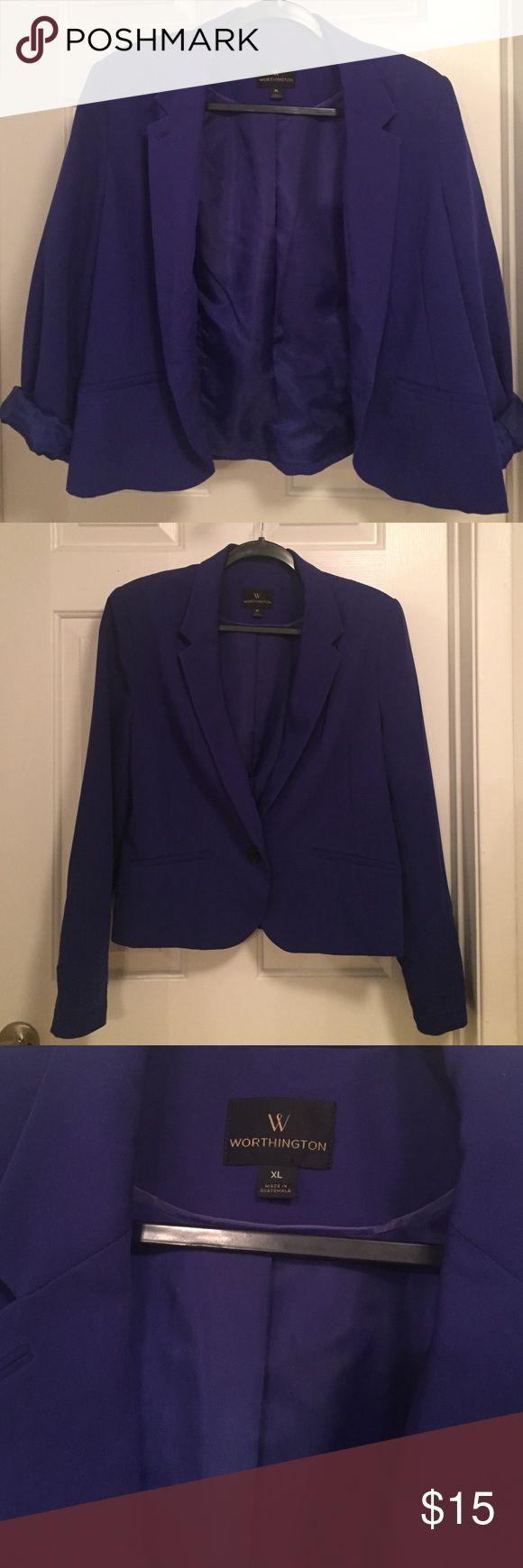 Worthington Royal Blue Blazer Worthington Royal Blue Blazer size XL. No rips. Like new! Worthington Jackets & Coats Blazers