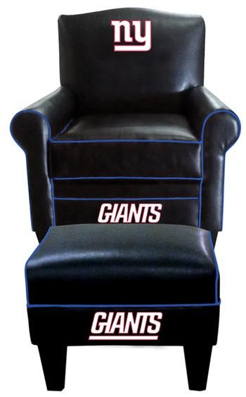 New York Giants Chair And Ottoman And New York On Pinterest
