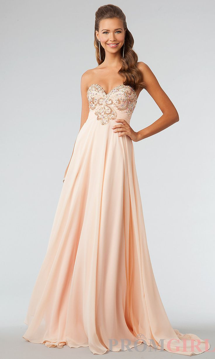 JVN by Jovani Prom Dresses, Beaded Strapless Prom Gown- #prom #dresses #gowns