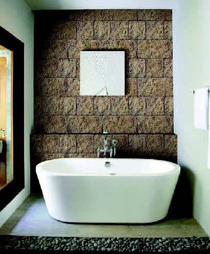 brique de parement dmente pour la salle de bains