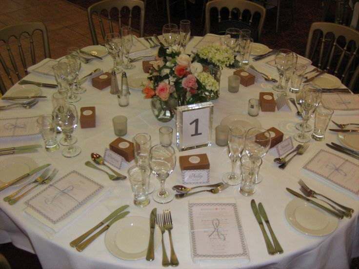 Table setup with flowers