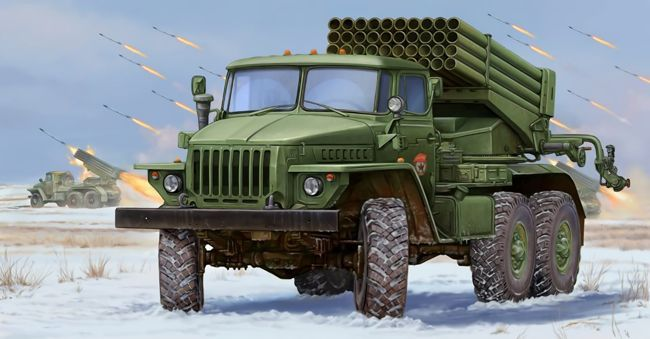 This paper model is a BM-21 Grad, a Soviet truck-mounted 122 mm multiple rocket launcher, and a M-21OF rocket, the papercraft is created by Young Modelist-Constructor, and the scale is in 1:32.