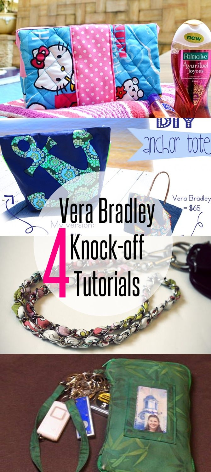 4 Vera Bradley Inspired Sewing Projects-Sew Some Stuf