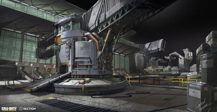 ArtStation - COD Infinite Warfare: Moon Port, Gabriel Yeganyan