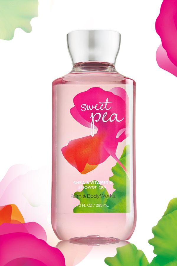 Sweet fragrance meets shea-infused suds! #SweetPea support BBW!!  This is my job. My company makes, bottles and packages all BBW lotions, creams and shower gels