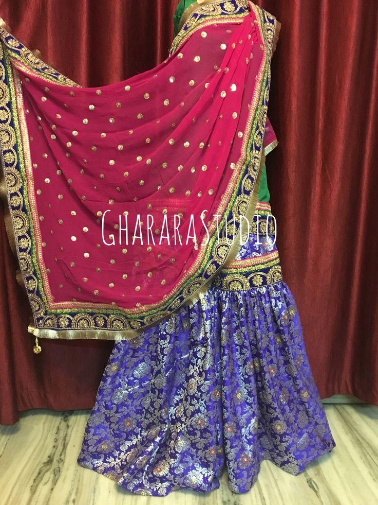 Gharara in Blue and Pink.  Get your favourite colours on your Gharara.   #gharara #ghararastudio #ghararastudiobyshazia #greengharara #kamkhwabgharara #kimkhaab #bridal #wedding #nikah #zari #cutworklace #embroidery #fashion #instafashion #fashiongram #fashionblogger #fashionblog #fashiondiaries #fashionstyle #fashiongirl #fashionpost #indianfashion #indianwedding #muslimahfashion #3dgharara