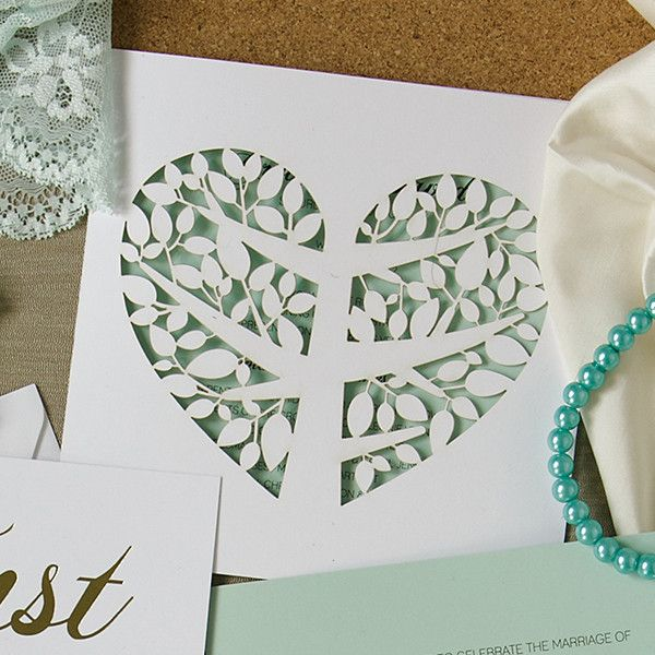 Tree of love DIY invitations. Visit our quick tutorial, on the blog