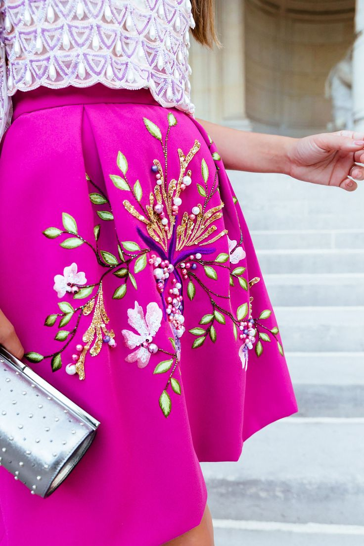 Romantic Pink Embellished skirt | Jenny Cipoletti of Margo & Me