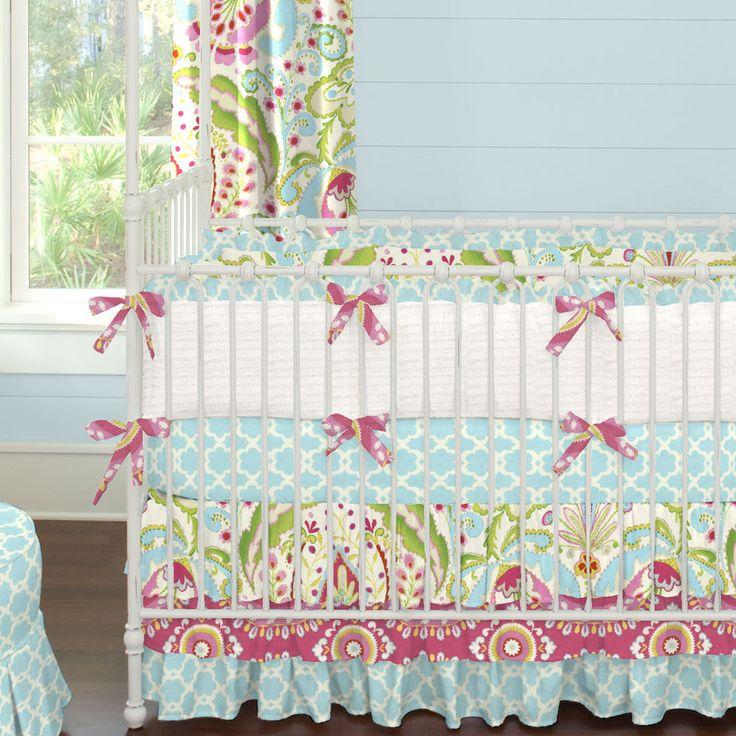Kumari Gardens Crib Bedding #carouseldesigns
