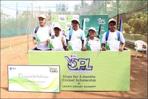 Ola Awards Cricket Academy Scholarships  To Children of Ola Driver Partners