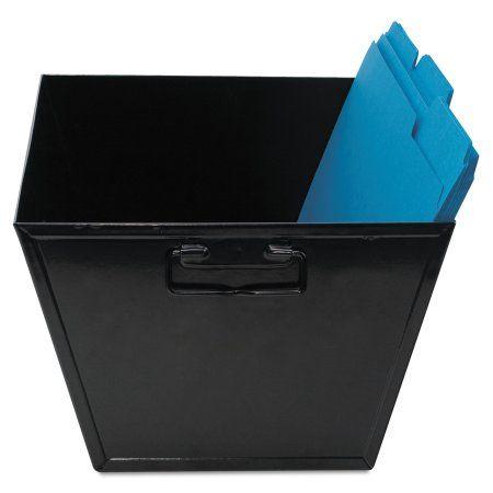 Advantus Steel File and Storage Bin, Legal, 15 1/4 x 11 1/4 x 7 1/4, Black