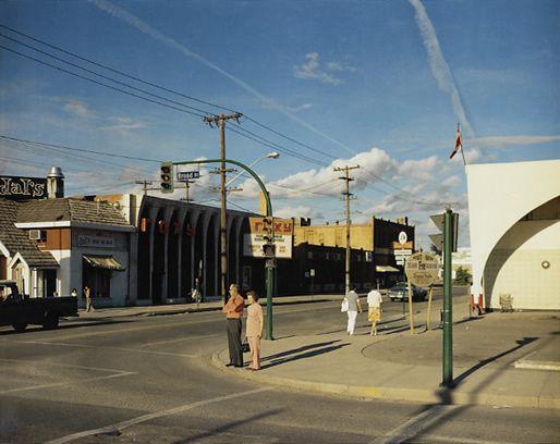 Broad Street, Regina, Saskatchewan, 1974  http://www.americansuburbx.com/2010/12/stephen-shore-uncommon-places-2004.html (very good paper)