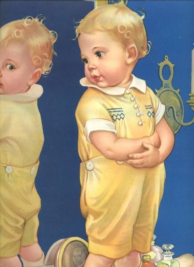 drawn by Frances Tipton Hunter....note the handsome handsewn and smocked shirt…