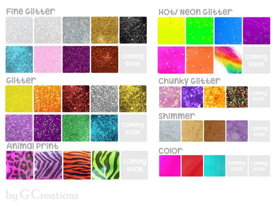Pick Font Color and Embellishments for your by GabriellesCreations