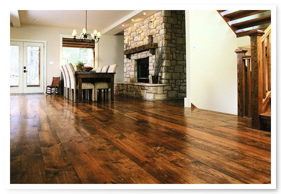 Heart of Pine floors stained darker