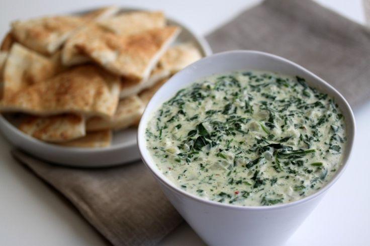 A healthier hot spinach dip.....ah YUM!