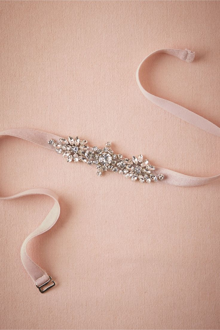 Mischka Bridesmaid Belt in blush from @BHLDN