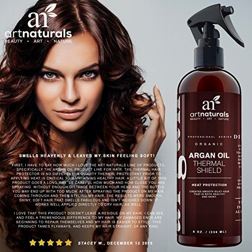 """ArtNaturals Thermal Hair Protector Spray – 8.0 Oz – Protective Spray against Flat Iron Heat – Contains 100% Organic Argan Oil Preventing Damage, Breakage & Split Ends – Made in the USA – Sulfate Free  BUY NOW     $11.95    """"Before you blow dry one more time, let ArtNaturals' Thermal Shield  Leave-In Conditioner come to the rescue of dry, split hai ..  http://www.beautyandluxuryforu.top/2017/03/17/artnaturals-thermal-hair-protector-spray-8-0-oz-protective-spray-against-flat-iron-.."""