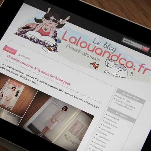Lalouandco.fr  [Edition été 2012] #WebDesign  #WordPress #Blog #Couture