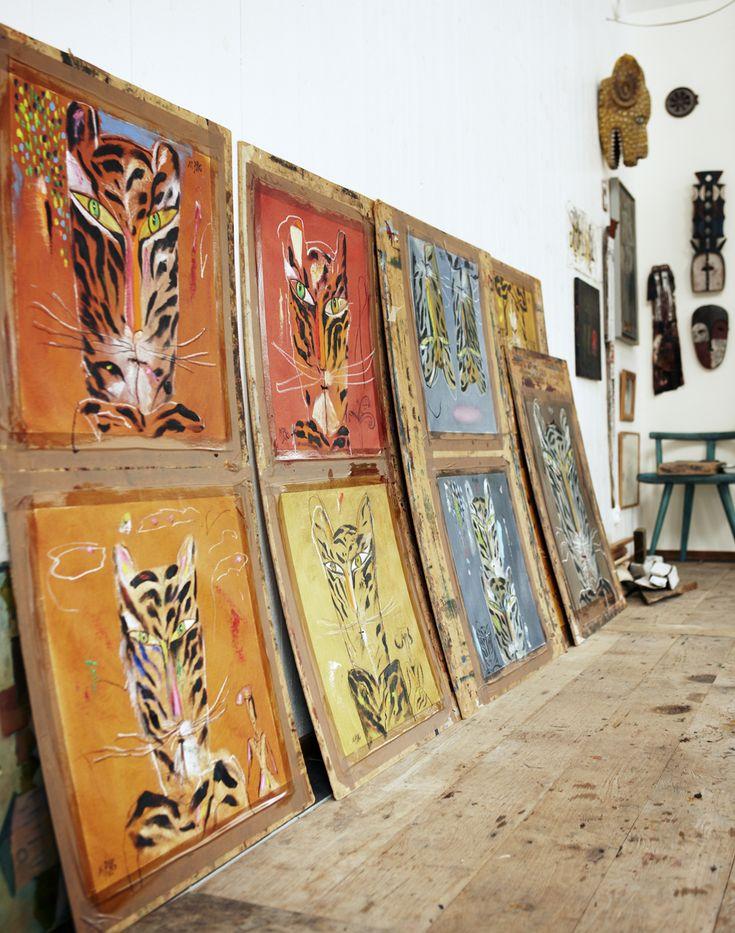 Ljuset och rymden spelar stor roll i Madeleine Pyks vackra ateljé på Österlen.