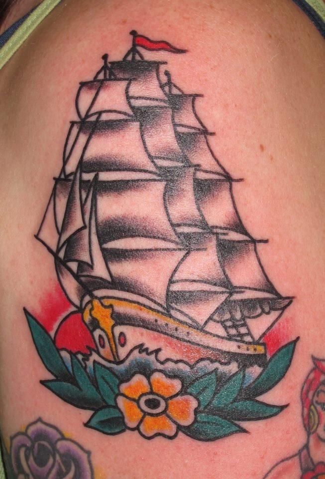 Sailor Jerry Tattoo by Jon Reed, All Saints Tattoo Austin TX