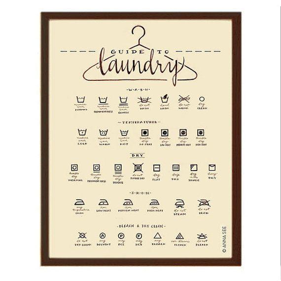 Wäscherei Pflegehinweise Wäsche Symbole Diagramm von annasee