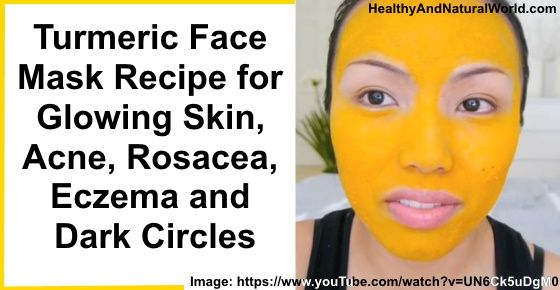 This Turmeric face mask will rejuvenate your skin and will help you to achieve glowing skin and get rid of Rosacea, Acne, Eczema and Dark Circles. This mask will strip away dead skin cells and clean off gunk and dirt, leaving the skin soft and smooth. It will also save you hundreds of dollars on cosmetic purchases.