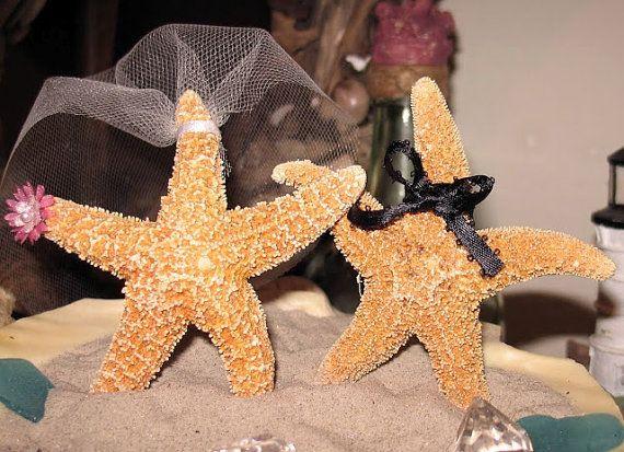 Coastal Wedding Decoration Sugar Starfish by seashellsbyseashore, $25.00