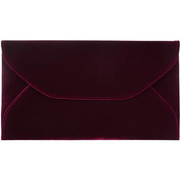 John Lewis Abby Envelope Velvet Clutch Bag , Red (340 ARS) ❤ liked on Polyvore featuring bags, handbags, clutches, red, purple handbags, cocktail purse, red clutches, red evening purse and envelope clutch bag