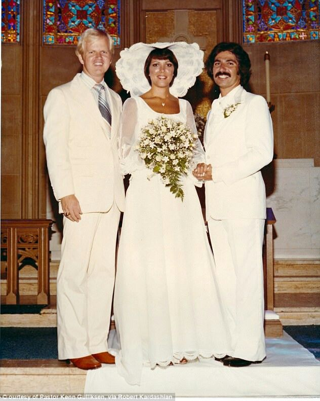 Mr. & Mrs. Robert Kardashian on their wedding day in 1978