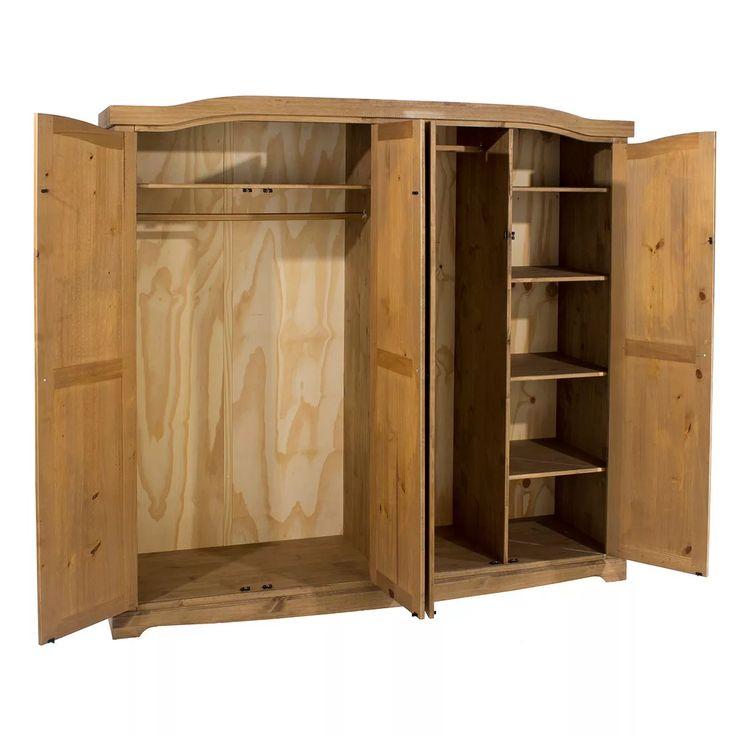 armário, guarda roupa, madeira maciça, cera antique cr534