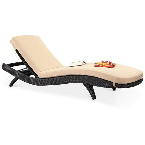 Messura Outdoor Wicker Adjustable Chaise Lounge w/Cushion, Quick Ship ($399) ❤ liked on Polyvore featuring home, outdoors, patio furniture, outdoor loungers & day beds, brown, contemporary outdoor furniture, outdoor wicker chaise lounge, outdoor chaise lounge chairs, outdoor wicker chaise lounge chairs and outdoor furniture