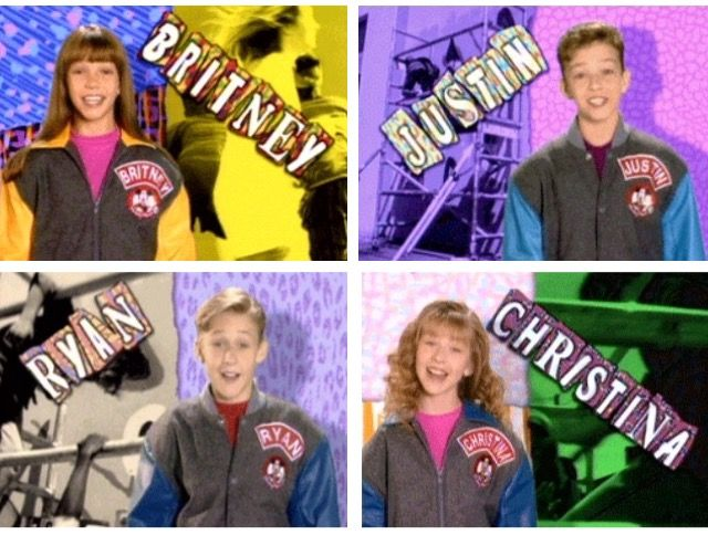 Britney Spears, Justin Timberlake, Ryan Gosling, and Christina Aguilera on Mickey Mouse Clubhouse (1993)