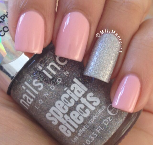 Holographic silver #nailsinc
