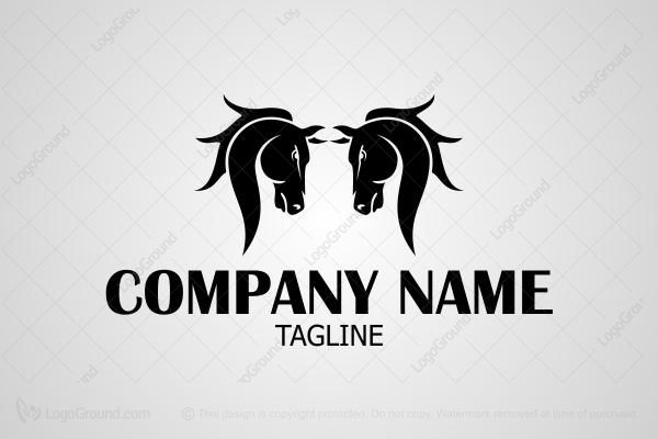 Logo for sale: Twin Horse Logo