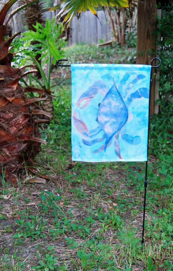 Perfect Blue Crab Coastal Beach Garden Flag From Art By Maremade On Etsy, $19.99