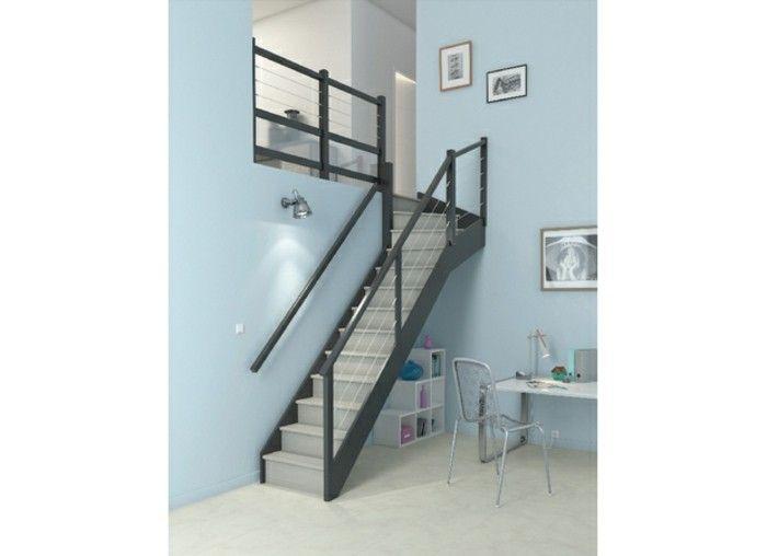 Escalier Quart Tournant Haut Personnalisable Idee Escalier Lapeyre Sur Votre Mesure Escalier Quart Tournant Idees Escalier Escalier Gain De Place