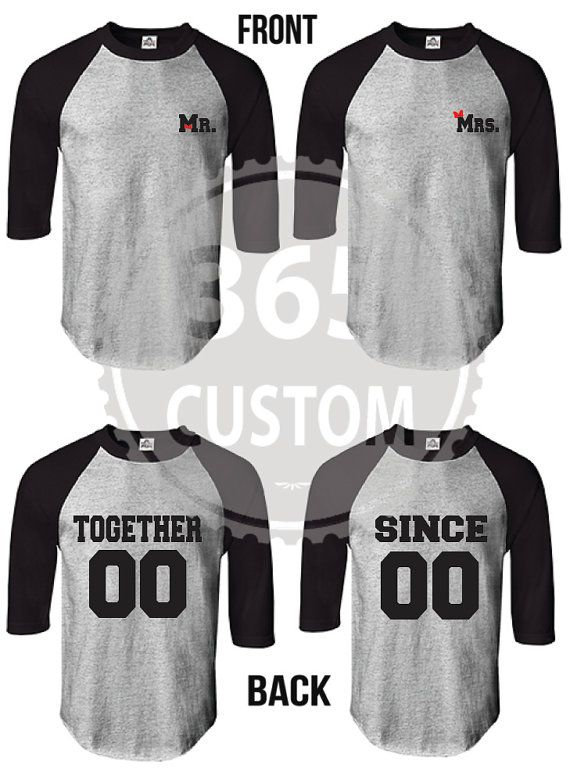 Together Since Couple Shirt Baseball Tee EACH 19.99 by 365custom