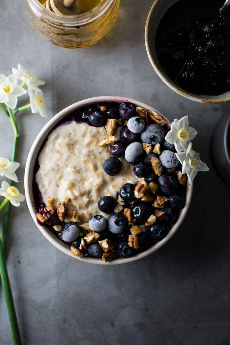 Macadamia Nut Milk Porriage with Bluberry Lemon Jam | www.8thandlake.com